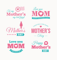 Mothers-day-logo-set vector