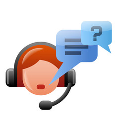 operator icon vector image