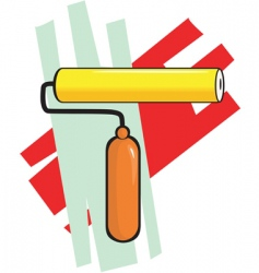 painting roller vector image