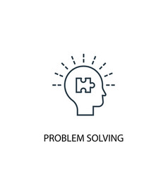 problem solving concept line icon simple element vector image