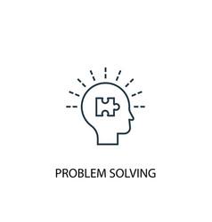 Problem solving concept line icon simple element vector