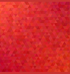 red abstract mosaic triangle tile pattern vector image