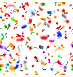 seamless pattern confetti and serpentine vector image