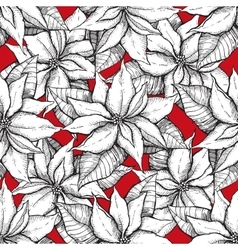 Seamless poistella pattern vector