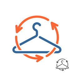 second hand shop logo recycling clothes symbol vector image