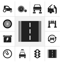 Set of 12 editable transport icons includes vector