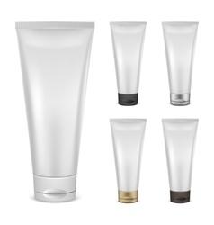 Set of cream tube mockups vector image