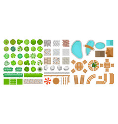 Set of park elements for vector