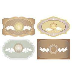 Set of vintage framed ornate labels vector