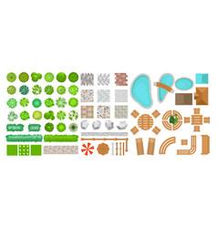 set park elements vector image