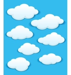 set white clouds in blue sky vector image