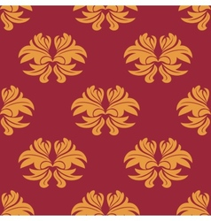Simple bold arabesque seamless pattern vector