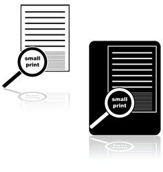 Small print vector