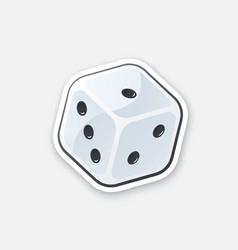 Sticker one dice vector