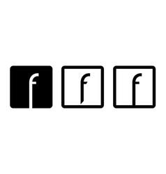 symbol letter f vector image