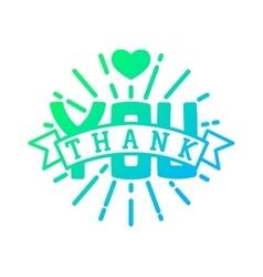 thank you badge icon vector image