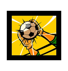 The soccer vector image