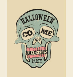 Typographic retro grunge halloween poster vector
