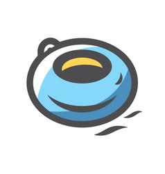 Water tube riding icon cartoon vector