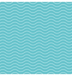 Wave pattern background blue green vector