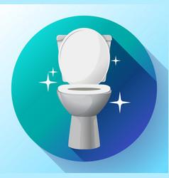 white ceramics toilet bowl icon modern vector image
