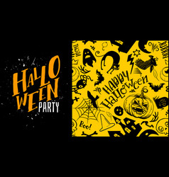 Yellow halloween party vector