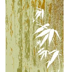 Zen Bamboo vintage vector image