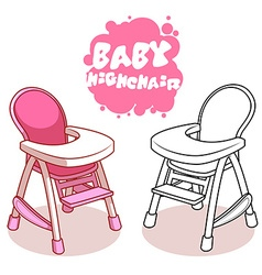Baby Highchair isolated on white background vector image