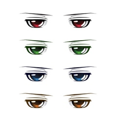 Colorful male eyes vector image vector image