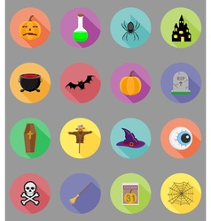 halloween flat icons 19 vector image vector image