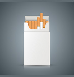 packing of cigarettes on the grey background vector image vector image