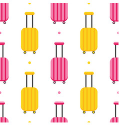 pattern with colorful luggage suitcases vector image