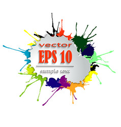 splashes of bright paint vector image