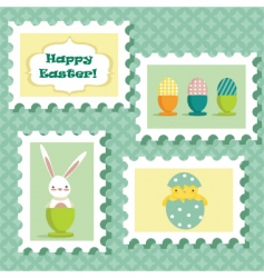 Easter stamp vector image