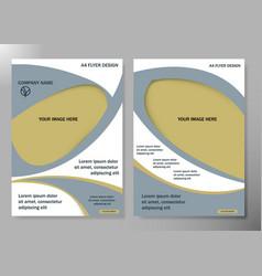 Flyer cover business brochure design vector