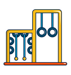 Park playground equipment rings icon vector