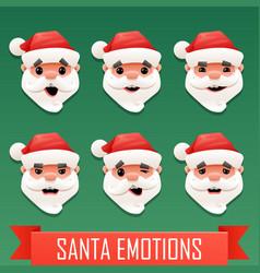santa emotions vector image vector image