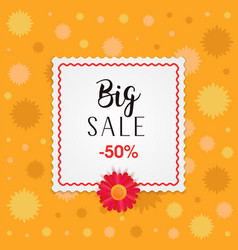 big sale banner design with frame and different vector image