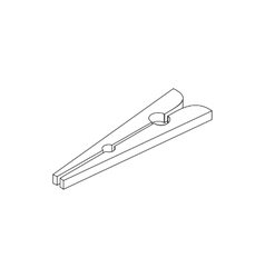 Clothespin icon isometric 3d style vector image