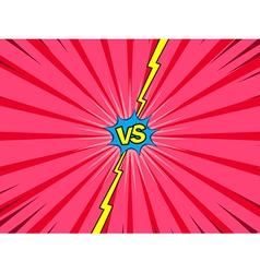 Comic versus battle intro background vector image