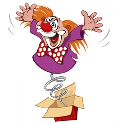crazy clown vector image vector image