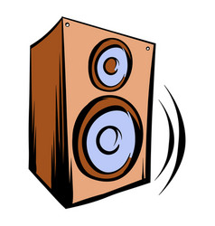 music speaker iicon cartoon vector image vector image