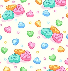 Seamless pattern for valentines day with candies vector