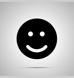 smile silhouette simple black happy face icon vector image