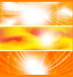 sun ray banners vector image