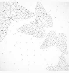 Abstract background with butterflies lines and vector