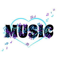 abstract banner music concept i love music vector image