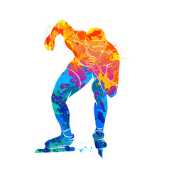 abstract speed skaters vector image