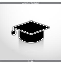 academic cap web icon vector image