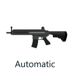Assault automatic black rifle military gun vector